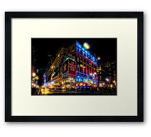 A December Evening at Macy's  Framed Print