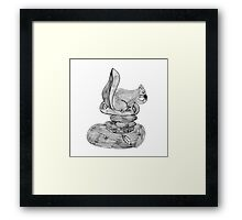 Feeding Squirrel Framed Print