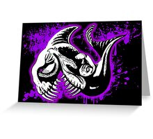 Feisty Fish Purple and Black  Greeting Card