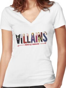 Villains Women's Fitted V-Neck T-Shirt
