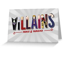 Villains Greeting Card