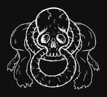 Infinity Skull - White Kids Tee