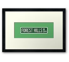 2014 Forest Hills Drive Street Sign Framed Print