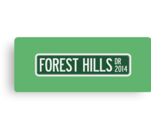2014 Forest Hills Drive Street Sign Canvas Print
