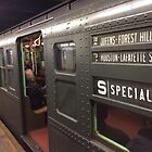 Vintage 1930s IND Subway Car, New York Transit Museum Nostalgia Trip, New York City  by lenspiro
