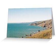 Along Owl Trail Above Slide Ranch, Marin County, CA Greeting Card