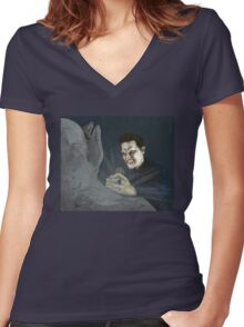 Becoming, Part Two - Angelus - BtVS Women's Fitted V-Neck T-Shirt