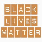 Black Lives Matter (ORANGE STICKER) by BroadcastMedia