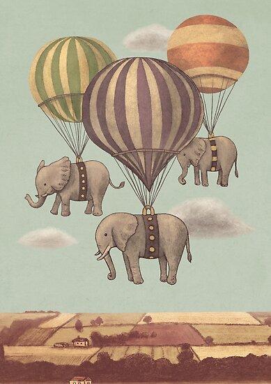 Flight of the Elephants by Terry  Fan