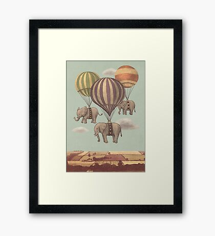 Flight of the Elephants Framed Print