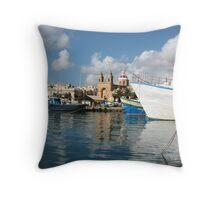 Malta Landscapes Marsaxlokk Throw Pillow