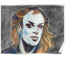 Brian Eno Portrait Poster
