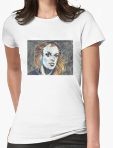 Brian Eno Portrait Womens Fitted T-Shirt