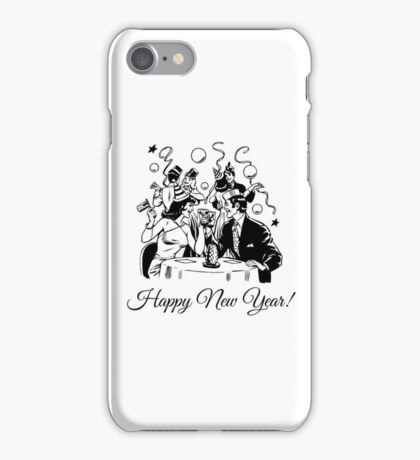 Happy New Year Couple of some bygone age iPhone Case/Skin