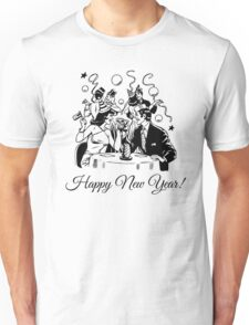 Happy New Year Couple of some bygone age Unisex T-Shirt