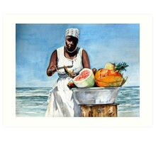 Fruit Stand Art Print