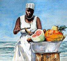 Fruit Stand by Carlos Alvarez Cotera