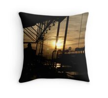 Sunset at the OXO Tower Throw Pillow