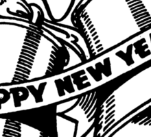 Happy New Year Bells Sticker