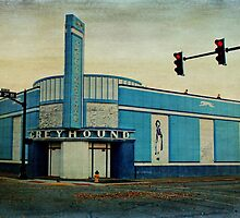 Old Greyhound Bus Station by Sandy Keeton