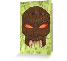 Dead Man's Party - The Ovu Mobani Mask - BtVS Greeting Card