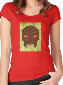 Dead Man's Party - The Ovu Mobani Mask - BtVS Women's Fitted Scoop T-Shirt