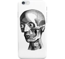 Retro Anatomy Face Horror - yet strangely cute iPhone Case/Skin