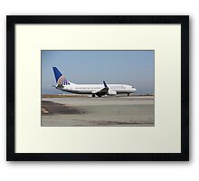 Continental Airlines Boeing 737 Framed Print