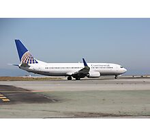 Continental Airlines Boeing 737 Photographic Print