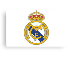 Real Madrid. Real. Soccer. Football. Team. Spain Canvas Print