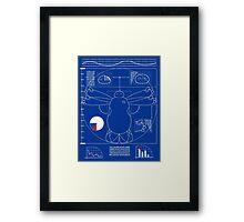 Vitruvain Baymax Framed Print