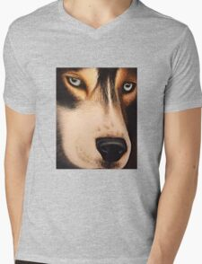 Wolf Portrait Mens V-Neck T-Shirt