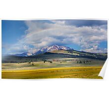 Rainbow Over Antler Peak Poster