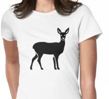 Deer doe Womens Fitted T-Shirt