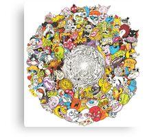 Toon Vortex circular design Canvas Print