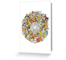 Toon Vortex circular design Greeting Card