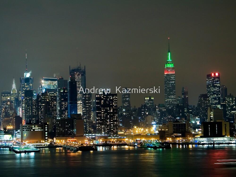 Christmas Skyline by andykazie