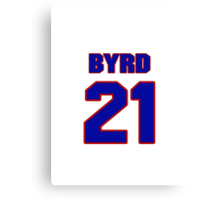 National football player Boris Byrd jersey 21 Canvas Print