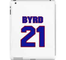 National football player Boris Byrd jersey 21 iPad Case/Skin