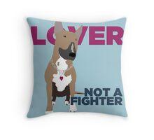 Roxy the Bull Terrier Throw Pillow