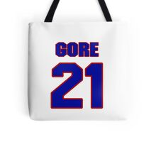 National football player Frank Gore jersey 21 Tote Bag