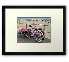 Pink Bicycles  Framed Print