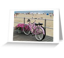 Pink Bicycles  Greeting Card