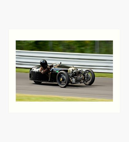 Vintage Morgan three wheeler on the track Art Print