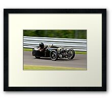 Vintage Morgan three wheeler on the track Framed Print