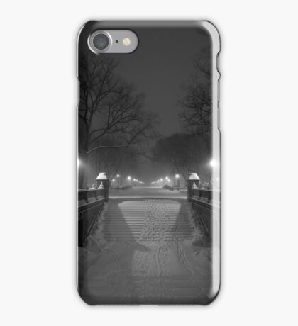 Central Park in the Snow 1 iPhone Case/Skin