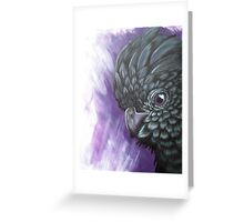 Purple Cockatoo  Greeting Card
