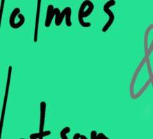 Holmes and Watson Sticker