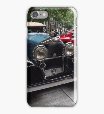Classic 1932 Stutz Bearcat, 1966 Ferrari, New York City iPhone Case/Skin
