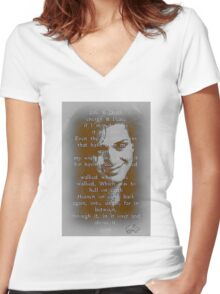 gia Women's Fitted V-Neck T-Shirt